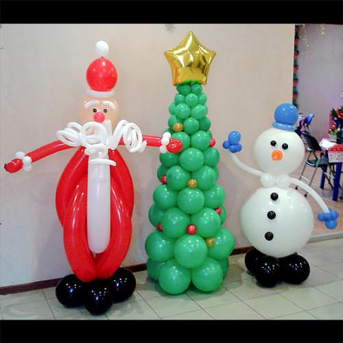 Композиция из шаров Новогодняя