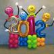 Композиция С Новый годом. Смайлы