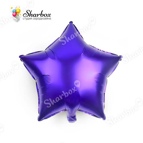 Шар Звезда фиолетовый с гелием
