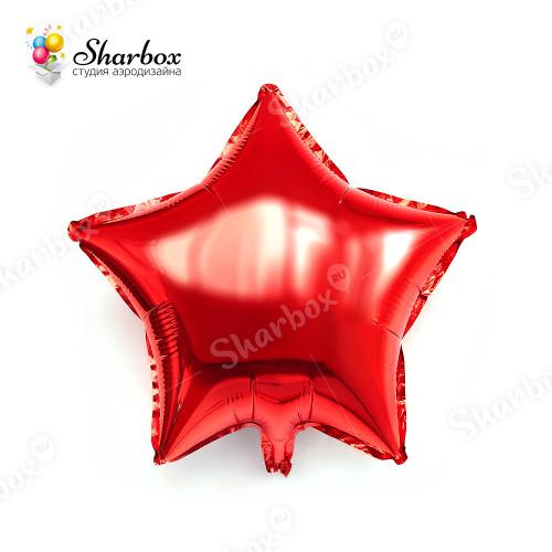 Шар Звезда красный с гелием