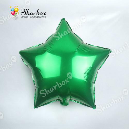 Шар Звезда зелёный с гелием