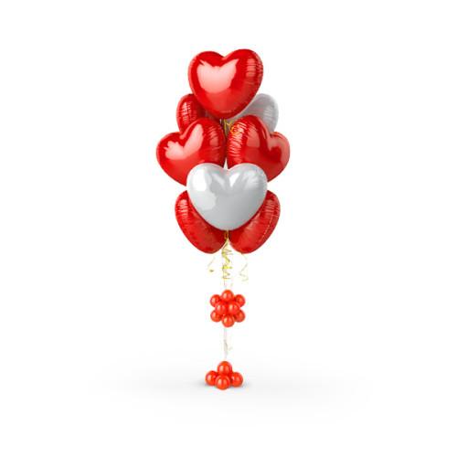 Фонтан из шаров Я тебя люблю