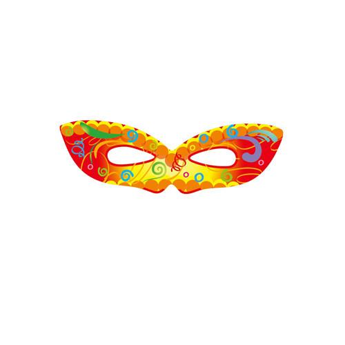 Полумаска карнавальная С днем рождения, подарки