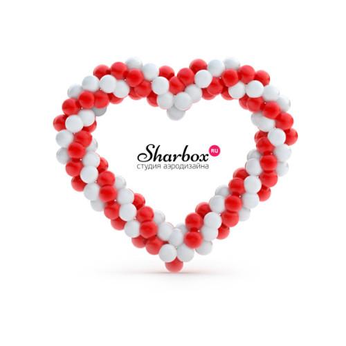 Сердце из шаров. Дизайн №1