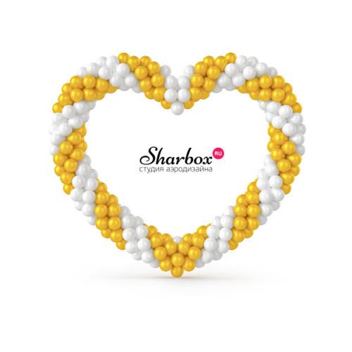 Сердце из шаров. Дизайн №2