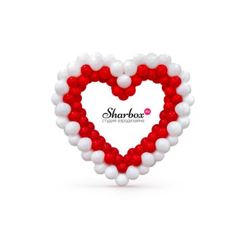 Сердце из шаров. Дизайн №3