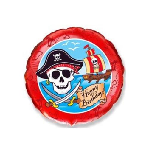 Шар Круг Пираты С Днем Рождения