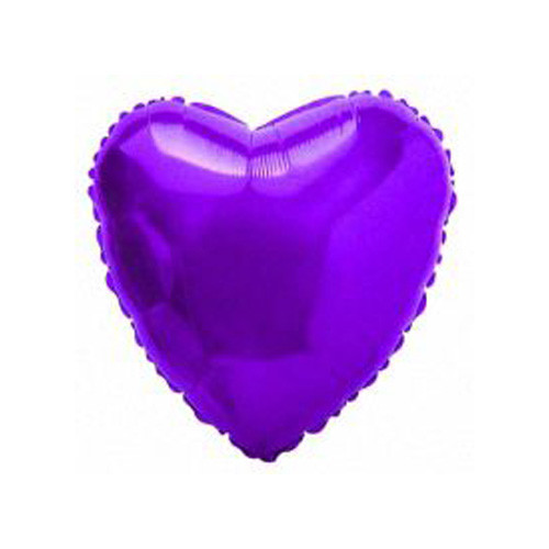 Шар Сердце, фиолетовый