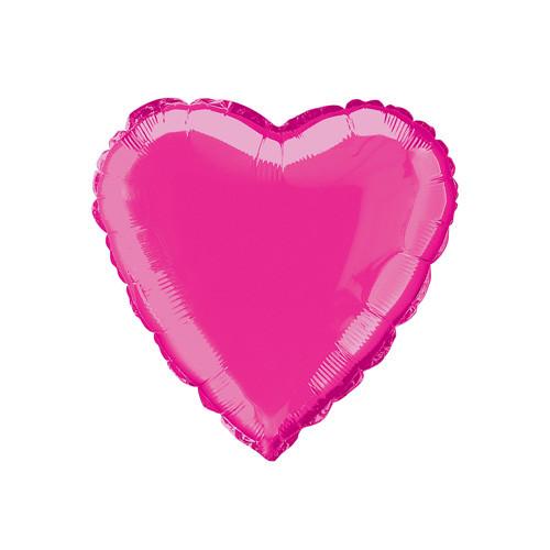 Шар Сердце, фуксия