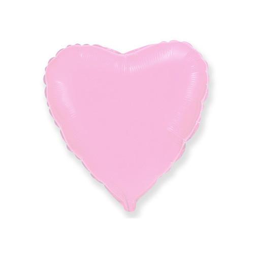 Шар Сердце, розовый
