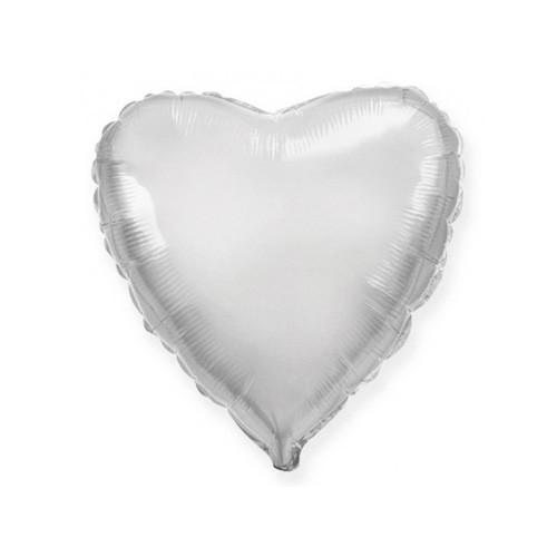 Шар Сердце, серебро