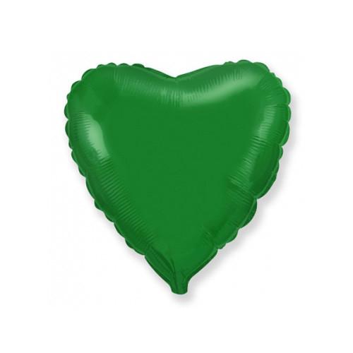 Шар Сердце, зеленый