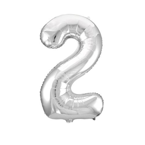 Шар цифра 2, серебро