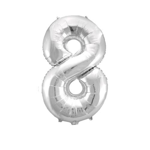 Шар цифра 8, серебро
