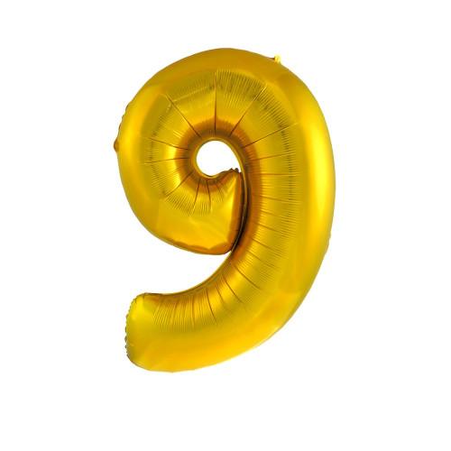 Шар цифра 9, золото