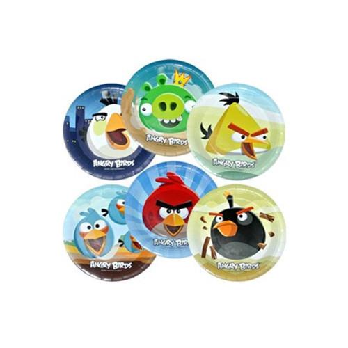 Тарелка одноразовая (ламинированная) Angry Birds