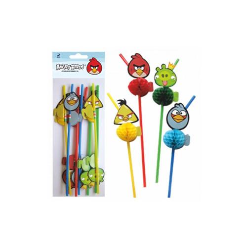 Трубочки для коктейля Angry Birds
