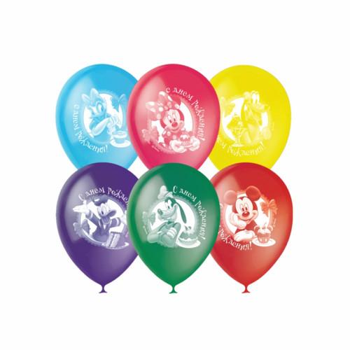 Воздушные шары Дисней, С Днем Рождения. Ассорти