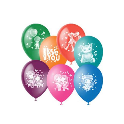 Воздушные шары Love you. Ассорти