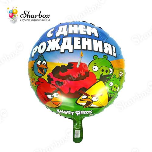 Воздушный шар Angry Birds С Днем Рождения купить