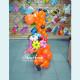 Жираф из шаров с букетом