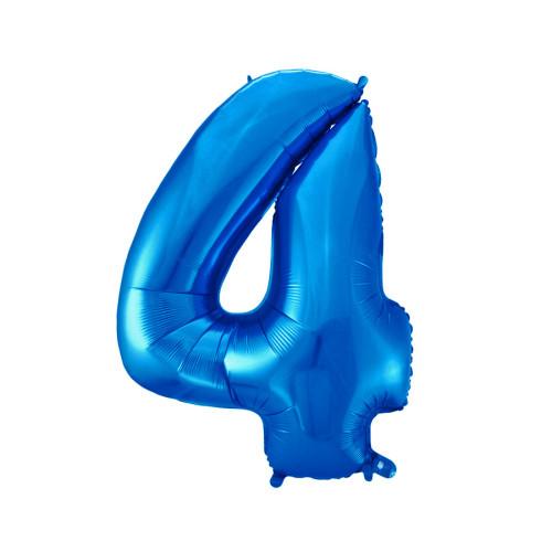 Шар цифра 4, синяя