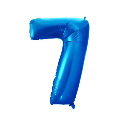 Шар цифра 7, синяя