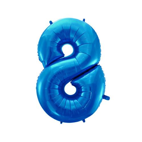 Шар цифра 8, синяя