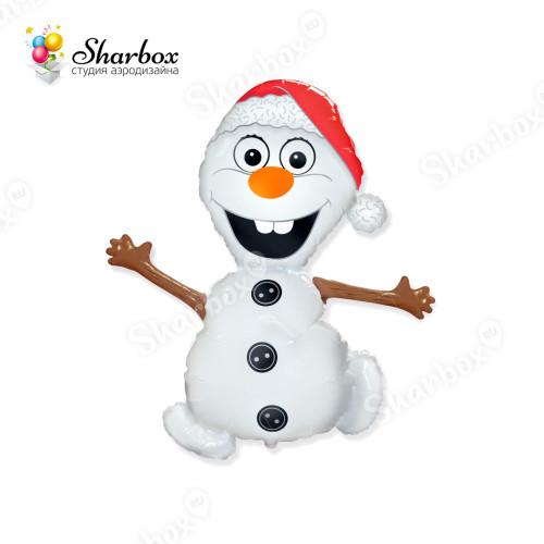 Шар Снеговик Олаф Холодное сердце Flexmetal