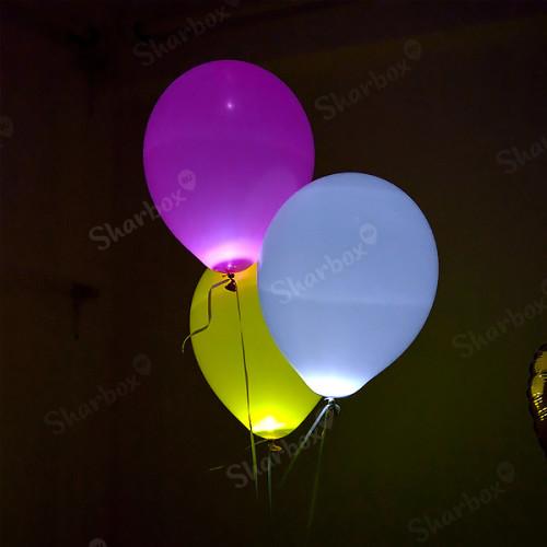 Светящиеся шары с гелием на запуск