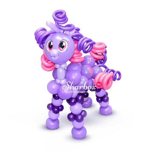 Пони Искорка из шаров