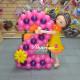 Цифра 2 из шариков с девочкой