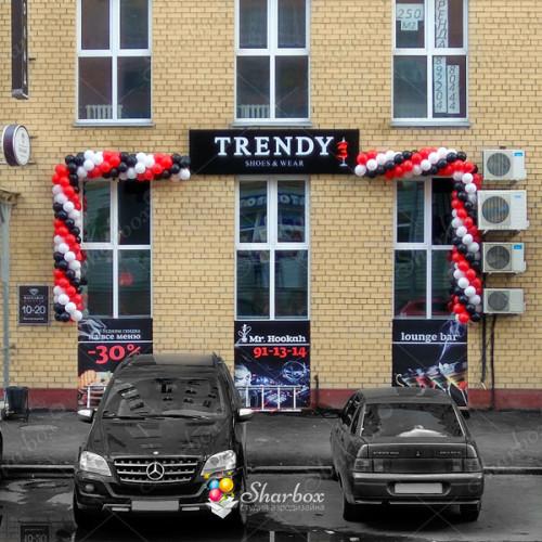Оформление фасада шарами Trendy