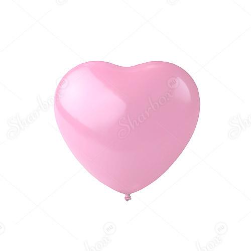 Сердце розовое, пастель