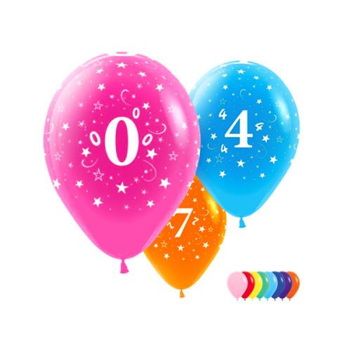 Воздушные шары с цифрами. Ассорти