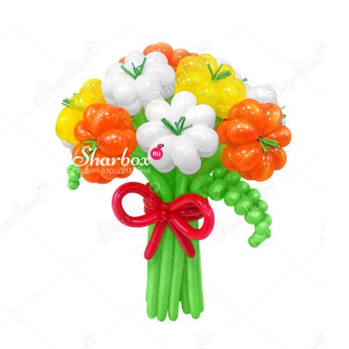 Букет цветов из шаров Улыбка лета