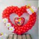 Сердце из маленьких шариков с декором