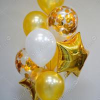 Фонтан из шаров Золотой фото 2