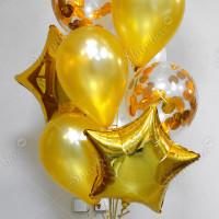Фонтан из шаров Золотой фото 3