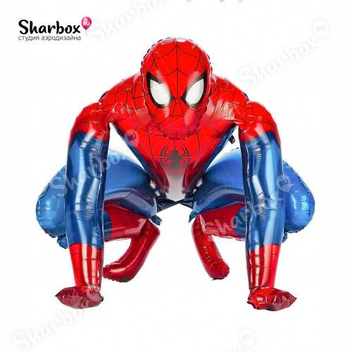 Ходячий шар фигура Человек-Паук ходячка