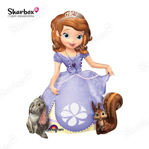Ходячий шар фигура Принцесса София ходячка