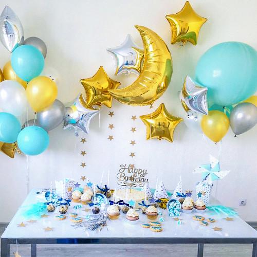 Набор гелиевых шаров Звездопад в Тюмени