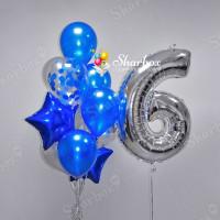 Фонтан из воздушных шаров Сапфир