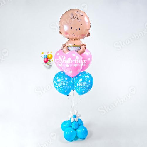Фонтан из воздушных шаров Малыш фото