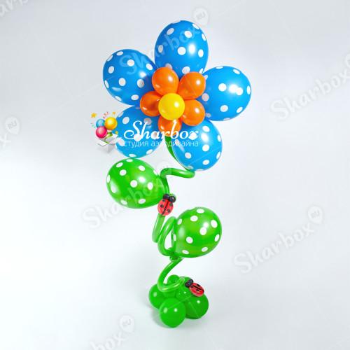 Гелиевый цветок из шаров фото