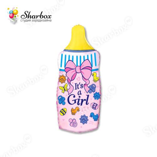 Воздушный шар Бутылочка Девочки с гелием