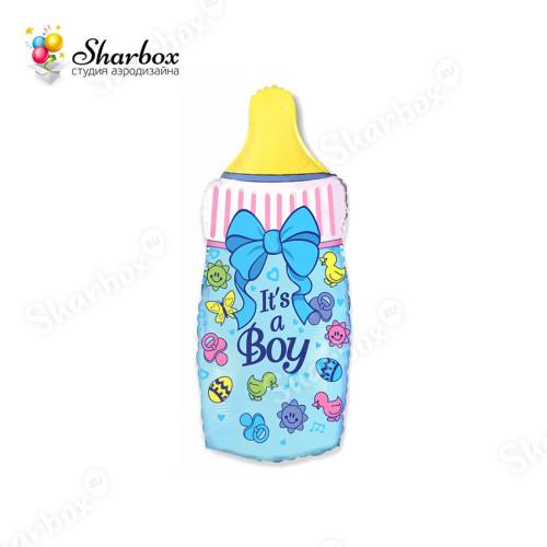 Воздушный шар Бутылочка Мальчика с гелием