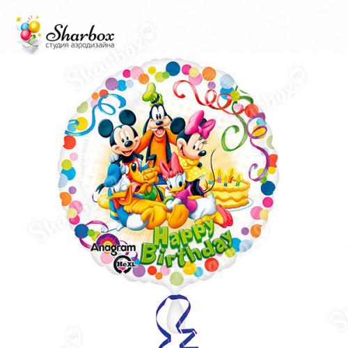Воздушный шар Микки и друзья с гелием