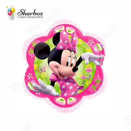 Воздушный шар Минни Цветок с гелием