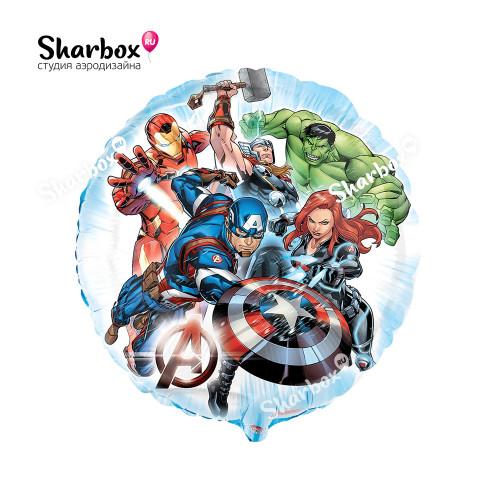 Воздушный шар Мстители круг